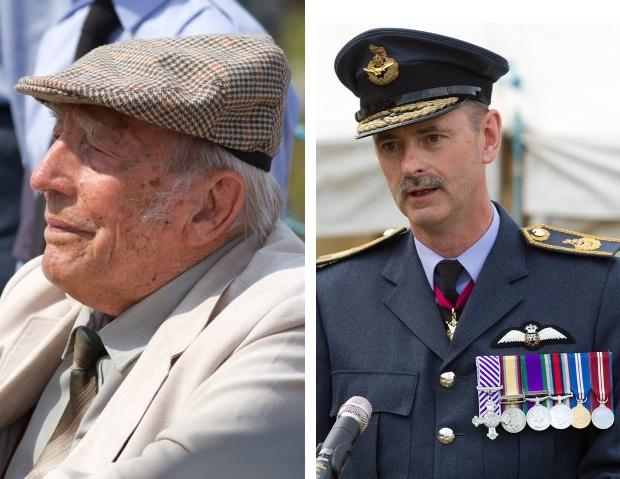 Dr. Bert Osborne DFC (455 Squadron Royal Australian Air Force, Langham 1944) & Air Marshal Dick Garwood CB CBE DFC